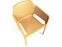 LivingStyles Net Italian Made Commercial Grade Stackable Indoor/Outdoor Armchair - Yellow