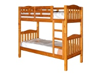 LivingStyles Adelaide Timber King Single Bunk Bed In Chestnut