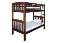 LivingStyles Adelaide Timber King Single Bunk Bed In Walnut