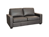 LivingStyles Astera Leather Sofa Bed with Innerspring Mattress, Chocolate