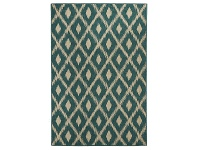 LivingStyles Alfresco Avoca Trible Egyptian Made Outdoor Rug, 220x150cm, Turquoise
