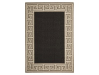 LivingStyles Alfresco Adonis Egyptian Made Outdoor Rug, 270x180cm, Charcoal / Tan