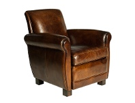 LivingStyles Albert Aged Leather Armchair