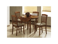 LivingStyles Alpine 5 Piece Dropside Dining Setting