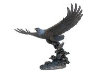 LivingStyles Veronese Cold Cast Bronze Coated Wild Life Figurine, Soaring Eagle