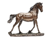 LivingStyles Veronese Cold Cast Bronze Coated Wild Life Figurine, Galloping horse