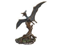 LivingStyles Veronese Cold Cast Bronze Coated Dinosaur Figurine, Pteranodon