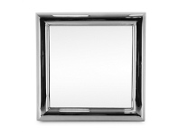 LivingStyles Bullet Stainless Steel 100cm Square Wall Mirror