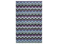 LivingStyles Anywhere Chevron Hand Tufted Indoor/Outdoor Rug, 240x340cm, Plum