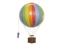 LivingStyles Travels Light Hot Air Balloon Model, Rainbow