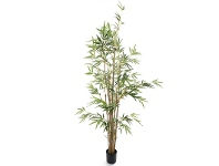 LivingStyles Artificial Potted Bamboo Tree with Natural Trunk, 160cm