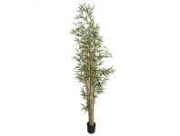 LivingStyles Artificial Potted Bamboo Tree with Natural Trunk, 220cm