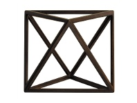 Solid Timber Platonic Octahedron Model - The Element Air