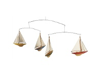 LivingStyles Americas Cup Sailboat Mobile Hanging Decor