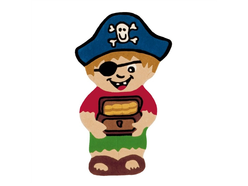 Arte Espina Pirate and Treasure Shaped Hand Tufted Kids Rug, 120x72cm