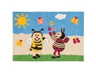 LivingStyles Arte Espina Bumble Bee and Lady Bird Hand Tufted Kids Rug, 160x110cm