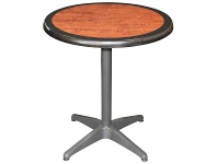 LivingStyles Mestre Commercial Grade Round Dining Table, 60cm, Cherrywood / Anthracite