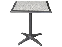 LivingStyles Mestre Commercial Grade Square Dining Table, 60cm, Pebble / Anthracite