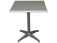 LivingStyles Mestre Commercial Grade Square Dining Table, 70cm, Granite / Anthracite