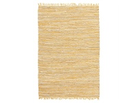 LivingStyles Bondi Leather & Jute Rug in Yellow - 270x180cm