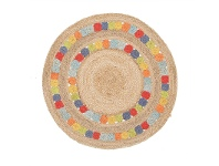 LivingStyles Little Miss Daisy Hand Braided Jute Indoor/Outdoor 150cm Round Rug