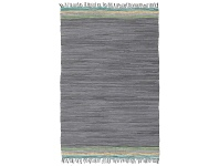 LivingStyles Atrium Hunter Cotton Rug, 270x180cm, Slate