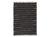 LivingStyles Saville Jute & Leather Indoor/Outdoor Rug in Black - 220x150cm
