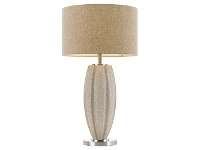 LivingStyles Axis Ceramic Base Table Lamp, Cream Granite