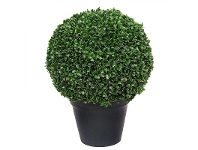 LivingStyles Artificial Potted Boxwood Ball