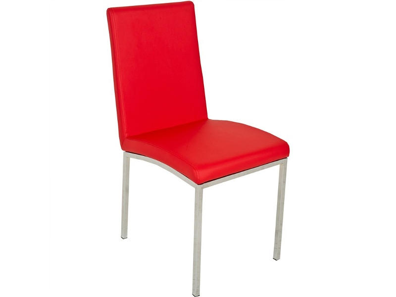 Bali Faux leather Upholstered Dining Chair - Red