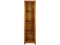 LivingStyles Amsterdam Solid Mahogany Timber Slim Bookcase - Light Pecan