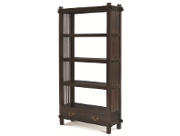 Solid Mahogany Timber Display Shelf / Room Divider, Chocolate