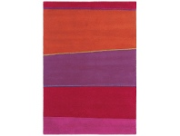 LivingStyles Brink and Campman Estella Horizon Hand Tufted Wool Rug, 230x160cm, Berry