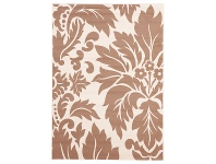 LivingStyles Damask Portion Belgian Made Modern Rug, 230x160cm, Tan / Cream