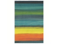LivingStyles Brink and Campman Kaleidoscope Stripe Wool Rug, 230x170cm, Kingfisher
