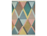 LivingStyles Brink and Campman Kashba Jewel Hand Woven Wool Rug, 280x200cm, Pastel