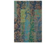 Brink and Campman Kodari Jasmine Hand Knotted Wool Rug, 300x200cm, Blue/Green