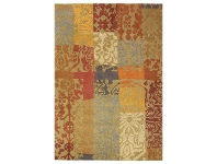 LivingStyles Brink and Campman Kodari Patchwork Hand Knotted Wool Rug, 240x170cm, Dark