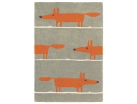 LivingStyles Scion Mr Fox Hand Tufted Designer Wool Rug, 150x90cm, Cinnamon