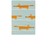 Scion Mr Fox Hand Tufted Designer Wool Rug, 150x90cm, Aqua