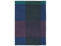 LivingStyles Ted Baker Plaid Hand Tufted Desinger Wool Rug, 280x200cm, Navy