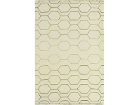 LivingStyles Wedgwood Arris Hand Tufted Designer Wool Rug, 240x170cm, Cream