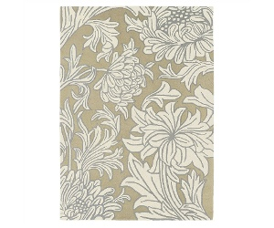 Morris & Co Chrysanthemum Hand Tufted Designer Wool Rug, 280x200cm, Beige/Cream