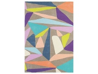 LivingStyles Brink and Campman Xian Triangle Hand Tufted Rug, 240x170cm, Tan / Multi