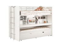 LivingStyles Trilogy Single Bunk Bed with Trundle