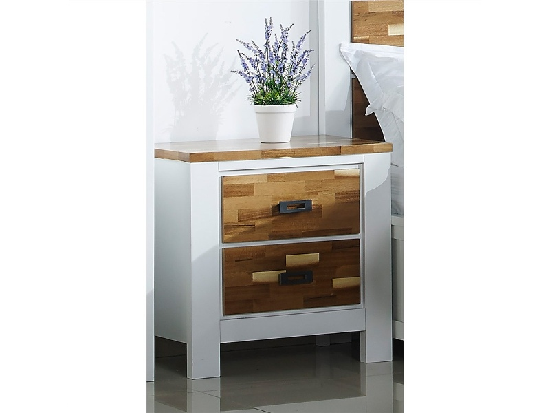 Valina Solid American Poplar Timber Bedside Table
