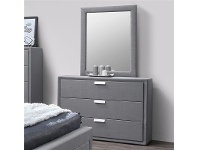 LivingStyles Marietta Fabric Upholstered Dressing Table with Mirror