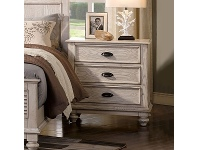 LivingStyles California Solid Timber Bedside Table, White