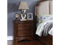 LivingStyles Barton Solid Timber Bedside Table