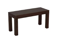 LivingStyles Amsterdam Solid Mahogany Timber 90cm Dining Bench - Chocolate